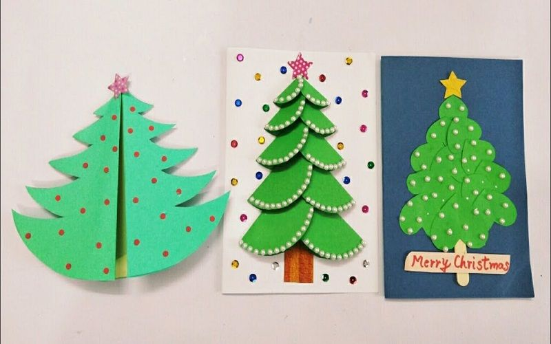 decorate Christmas postcards