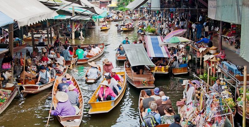 Longtail floating market near Bangkok