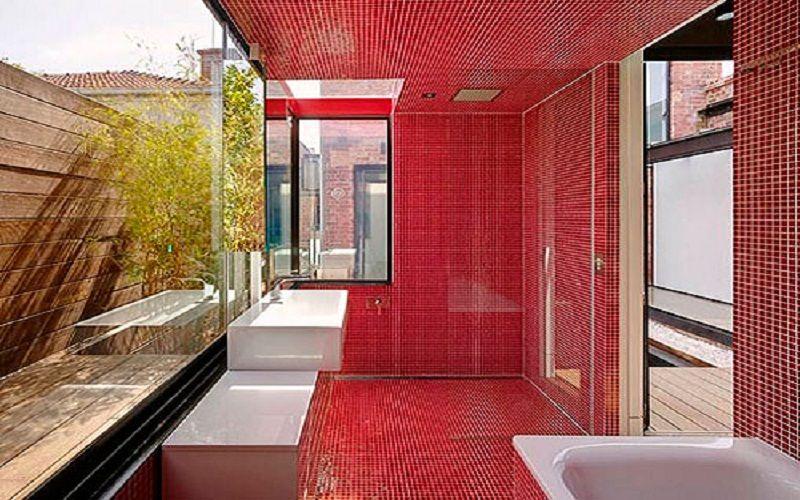 top bathroom idea in bright colors