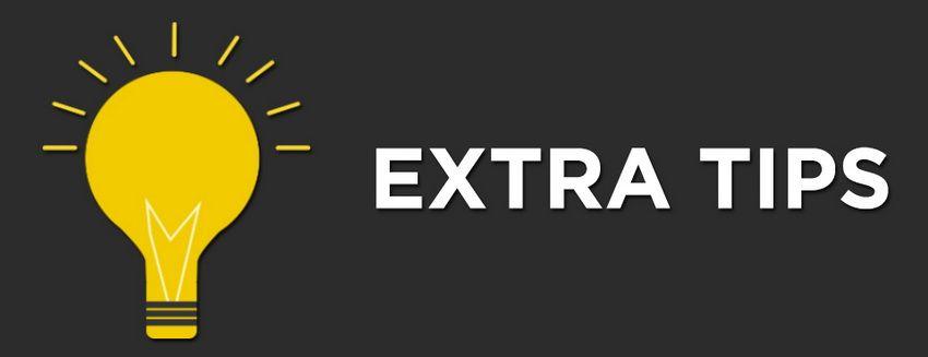 extra tips