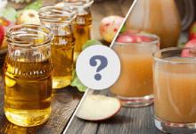 apple juice and apple cider