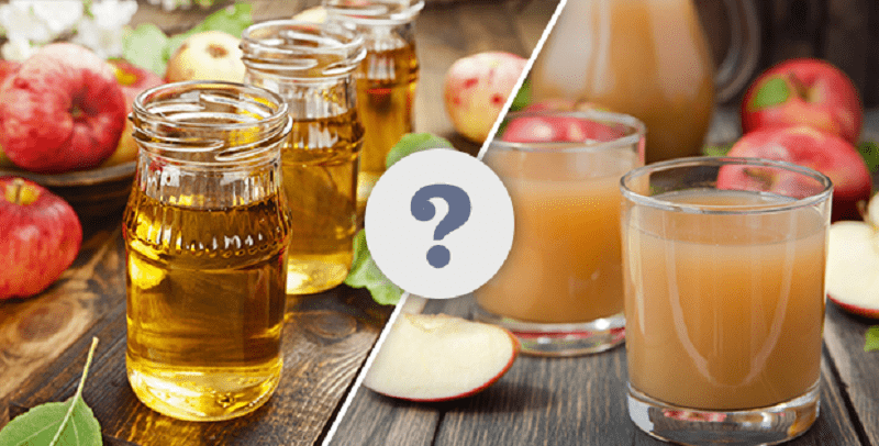 difference between cider and juice - 800×406