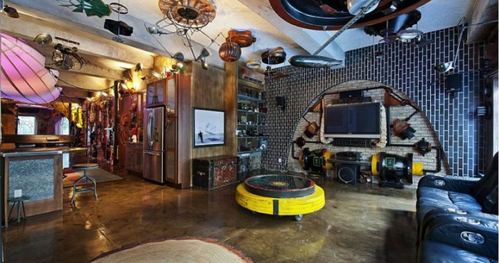 Steampunk style in the interior of the apartment